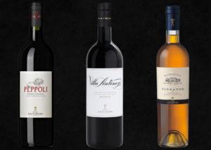 Antinori Wines. Pèppoli Chianti Classico, Villa Antinori Chianti Classico Riserva, Vin Santo Chianti Classico