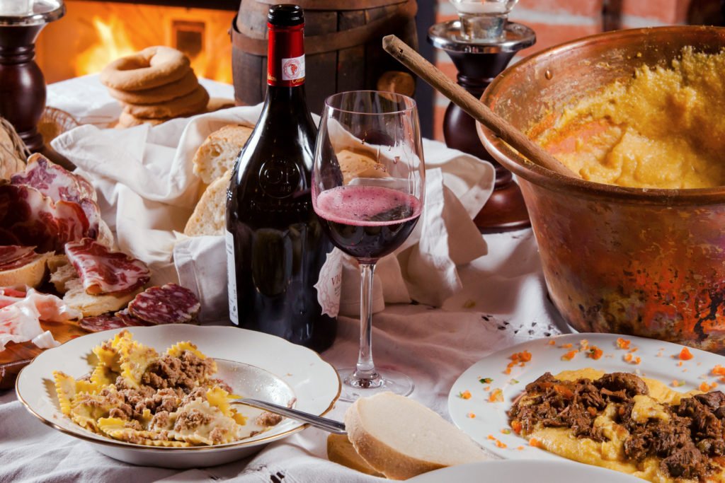 La Bonarda con ravioli e polenta. Foto © Cristian Castelnuovo