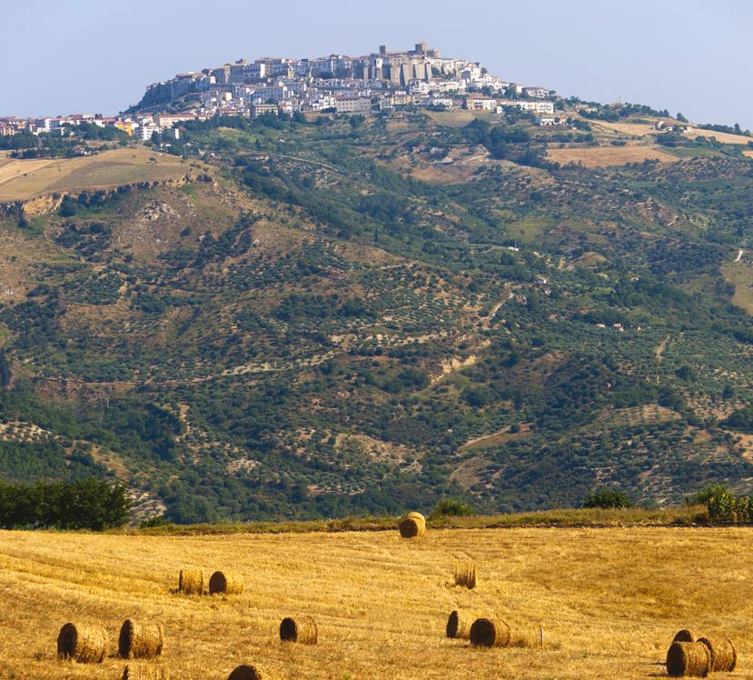 Una spettacolare veduta di Acerenza. ll centro storico è stato annoverato tra i primi 50 borghi più belli d'Italia con meno di cinquemila abitanti