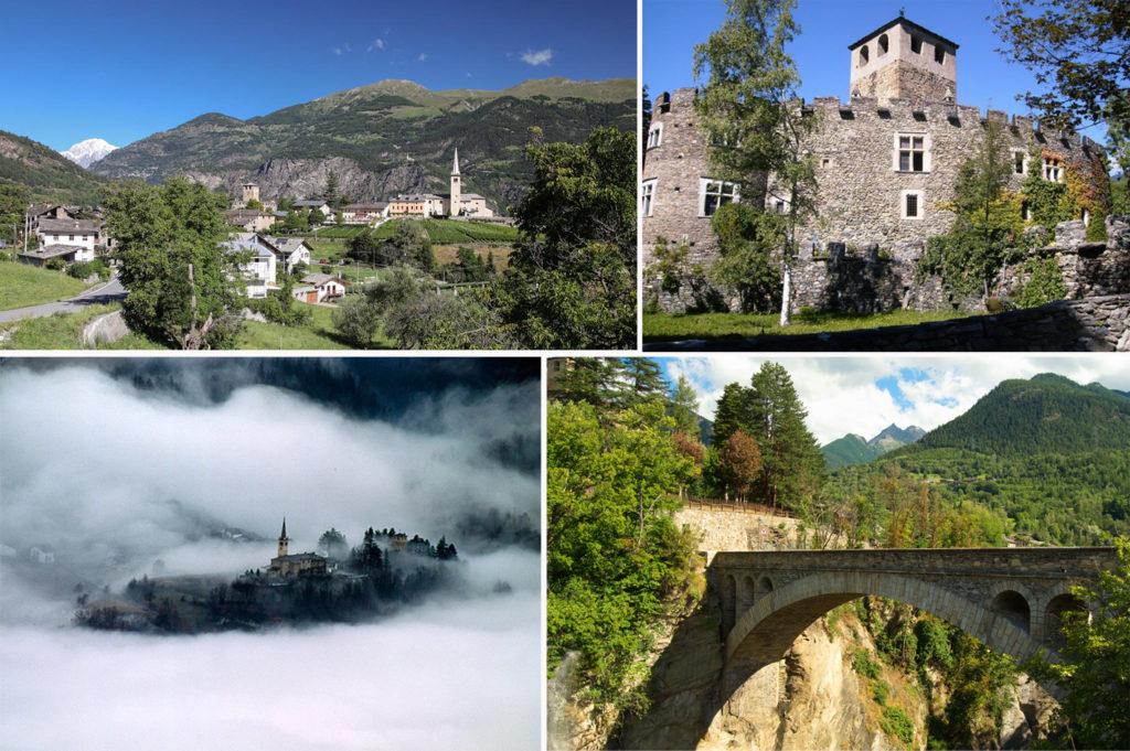 """In posizione pittoresca, a 880 metri di altitudine, Introd deve il nome """"Interaquas"""", Entre Eaux in francese, alla sua localizzazione tra la Dora di Rhêmes e il torrente Savara. Il paese si trova infatti all'imbocco della Valle di Rhêmes e della Valsavarenche, due delle tre valli valdostane che fanno parte del Parco Nazionale del Gran Paradiso. Ulteriore curiosità il ponte, costruito durante la Prima Guerra Mondiale su un baratro profondo più di ottanta metri, vero e proprio capolavoro architettonico"""
