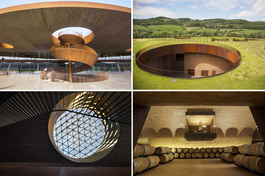 The Marchesi Antinori Chianti Classico Cellar is constructed to offer the possibility of observing how a wine is born from the vineyard to the bottle