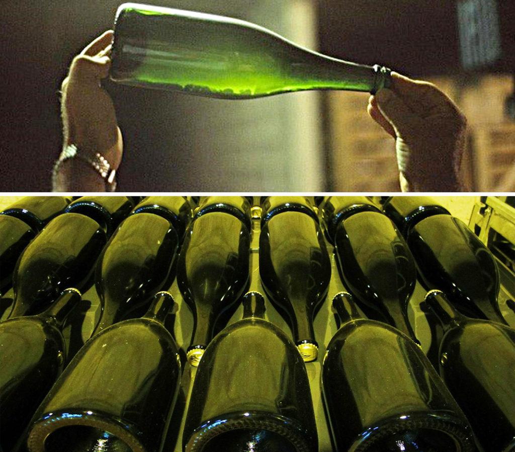 I lieviti in una bottiglia di spumante metodo classico durante la presa di spuma. Per la presa di spuma e l'affinamento le bottiglie sono disposte in modo orizzontale. La qualità del vino base e il tempo di affinamento sui lieviti sono fondamentali per la futura qualità del prodotto