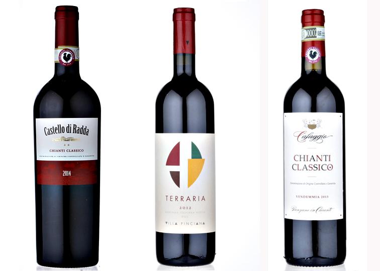 I tre vini toscani premiati con l'oro